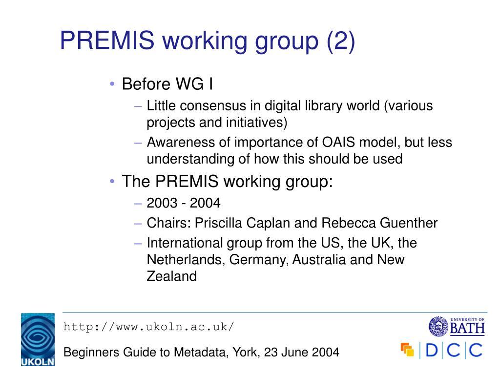 PREMIS working group (2)