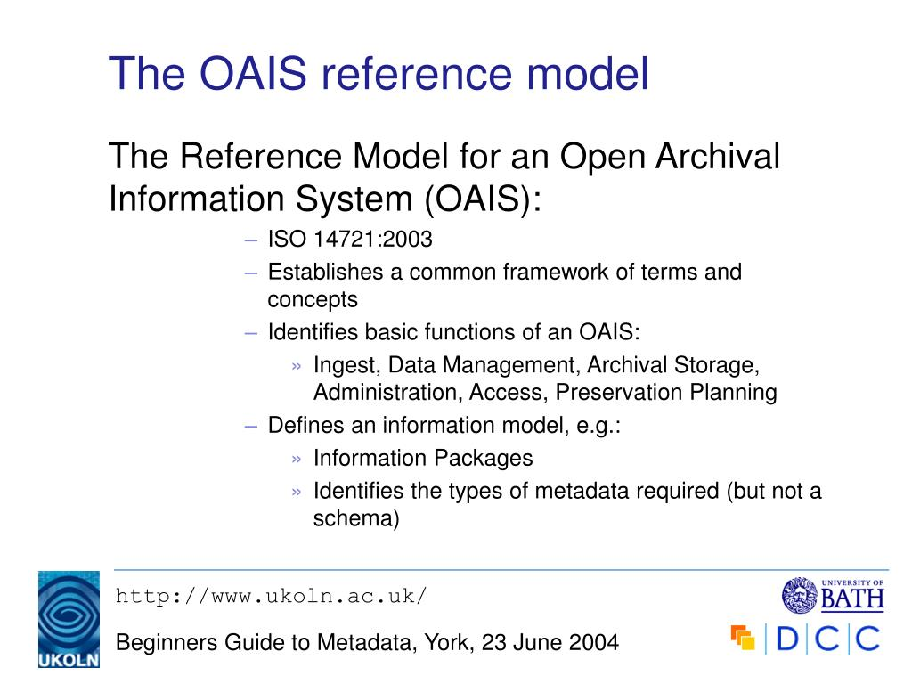 The OAIS reference model