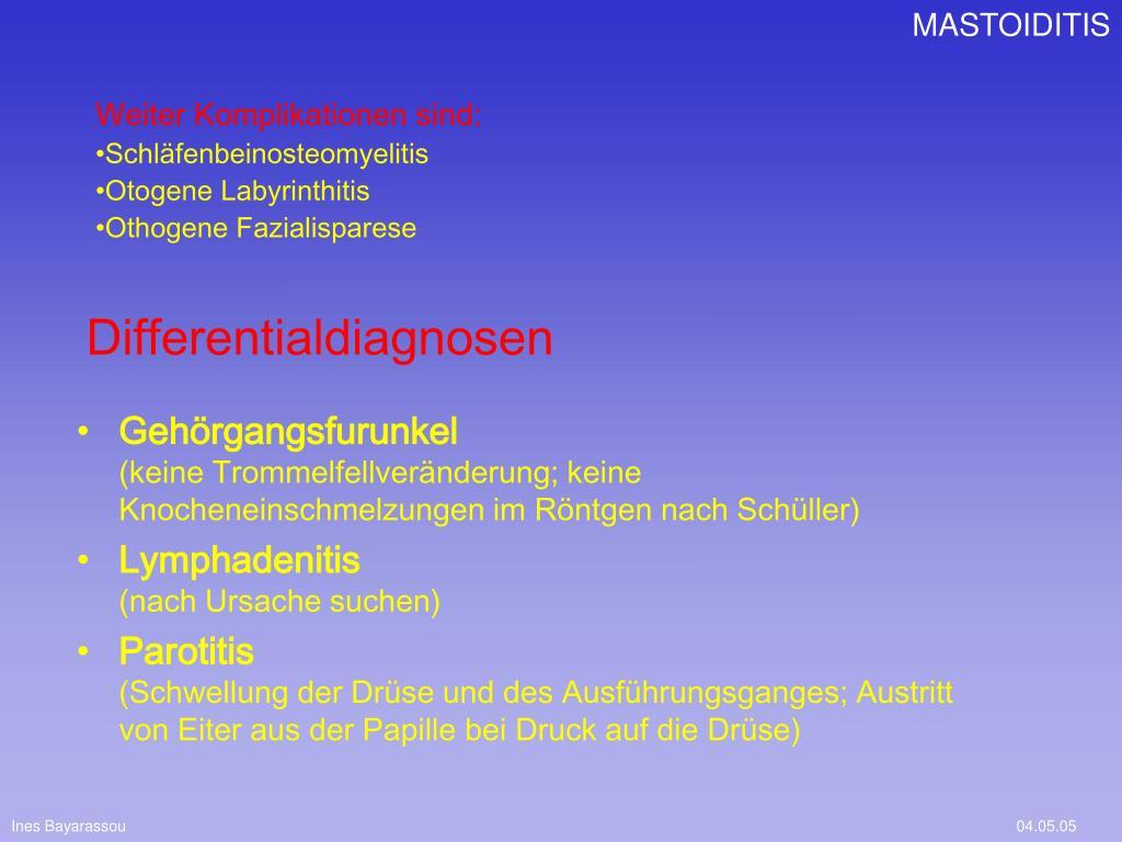 Differentialdiagnosen