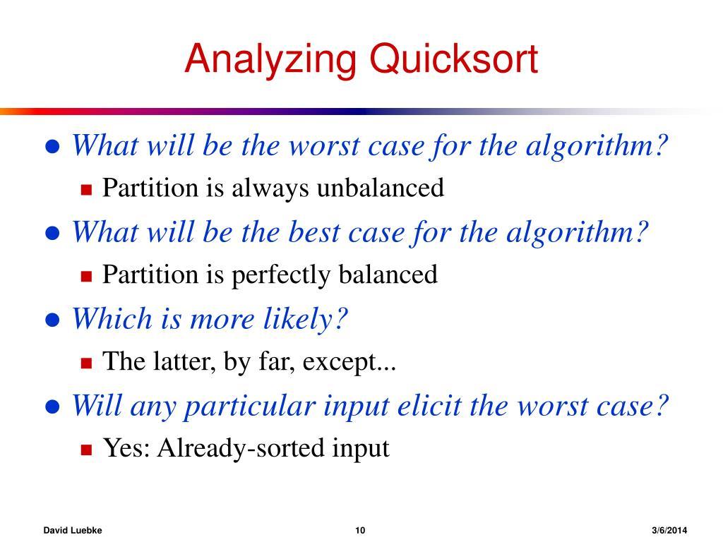 Analyzing Quicksort
