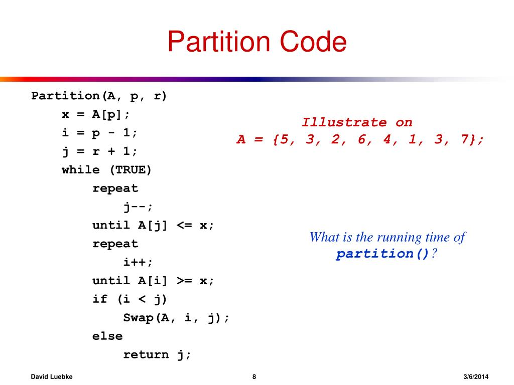 Partition Code