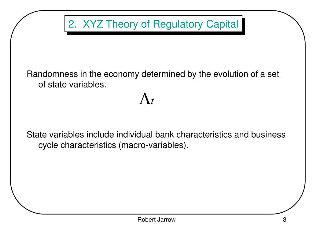 2.  XYZ Theory of Regulatory Capital