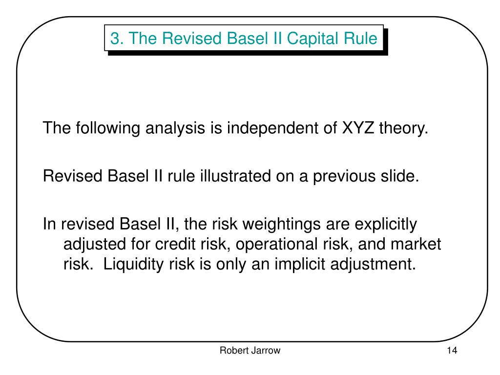 3. The Revised Basel II Capital Rule