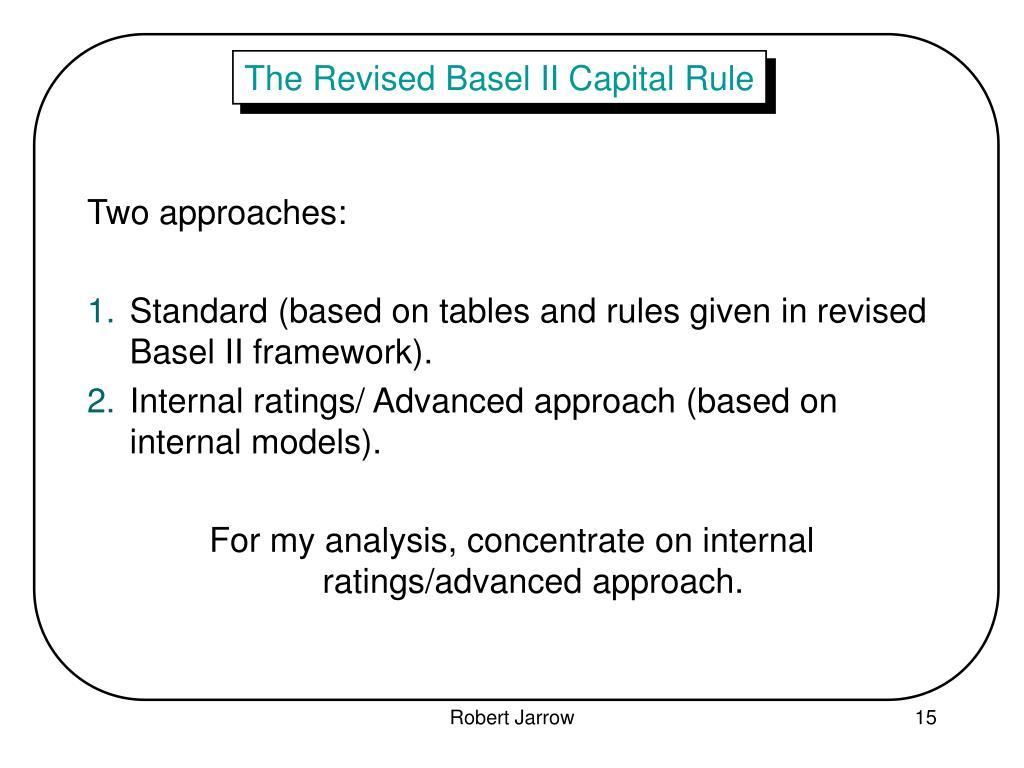 The Revised Basel II Capital Rule