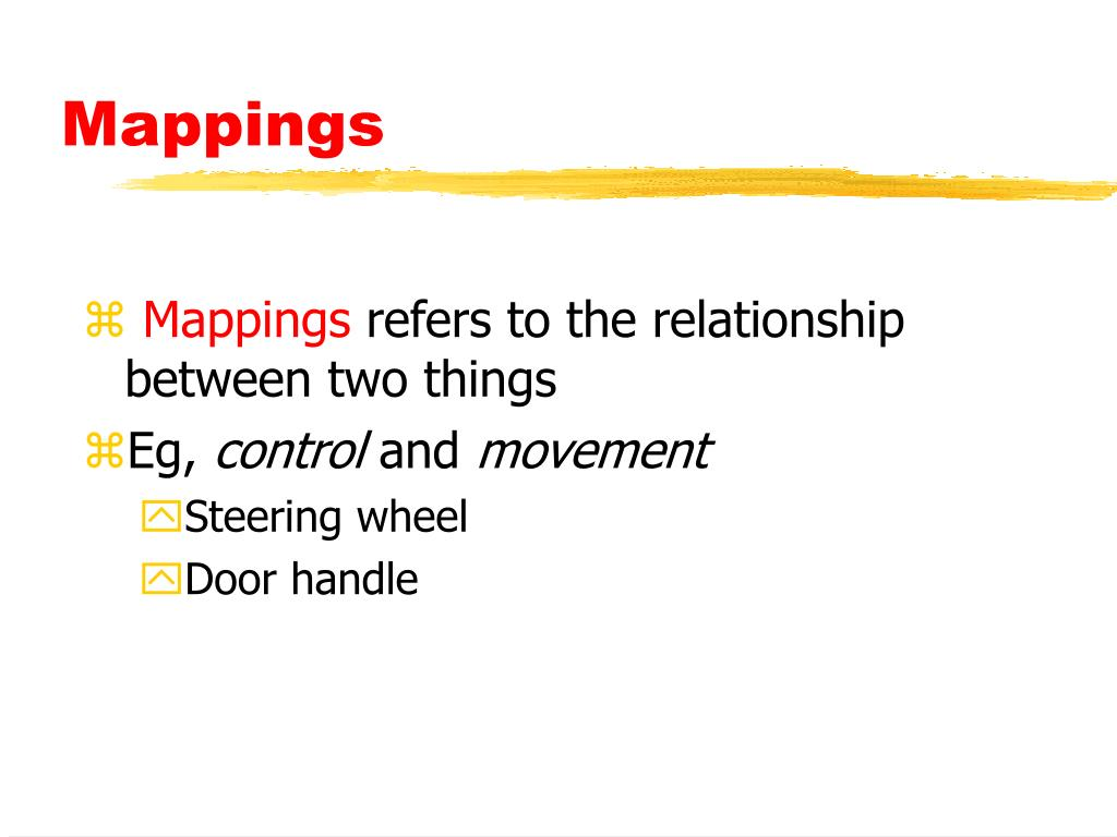 Mappings