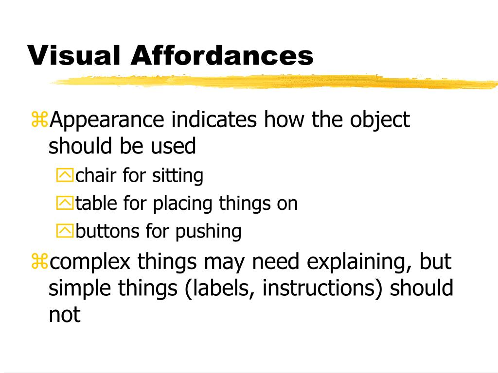 Visual Affordances