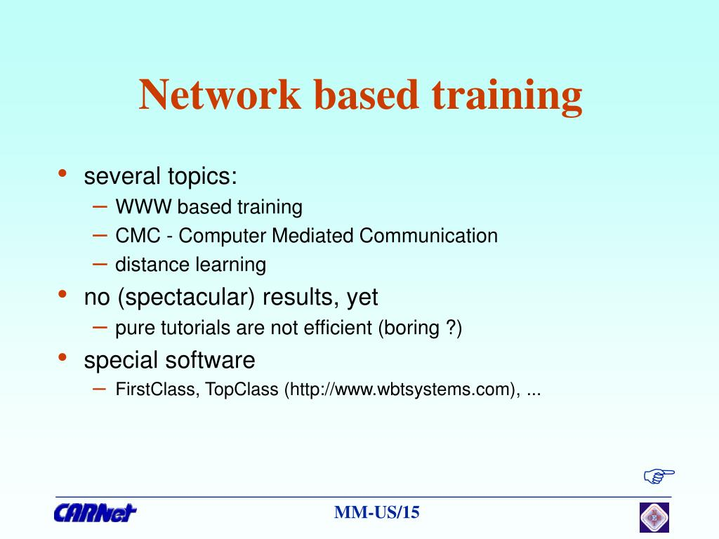Network based training
