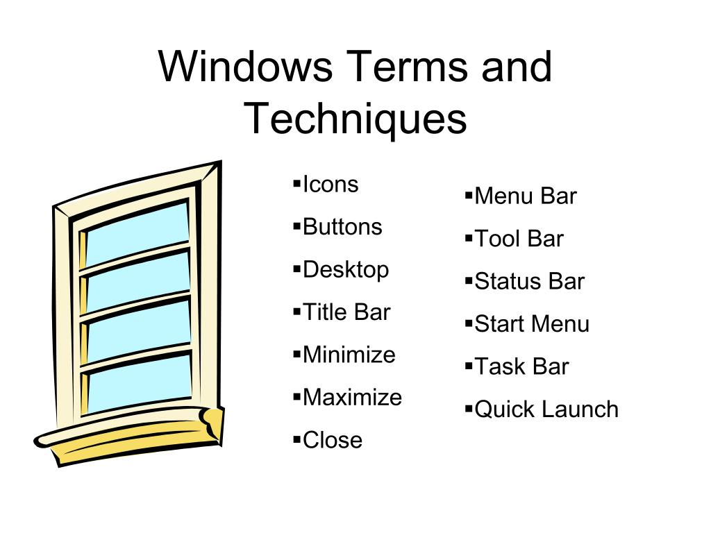 Windows Terms and Techniques