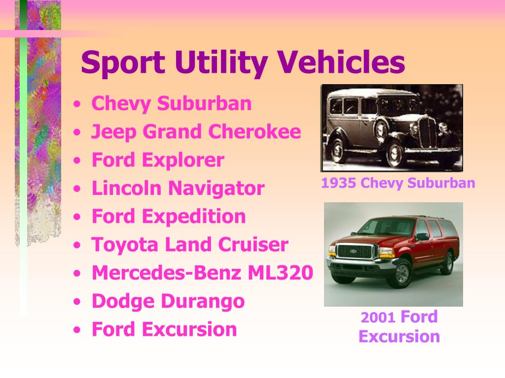 Sport Utility Vehicles