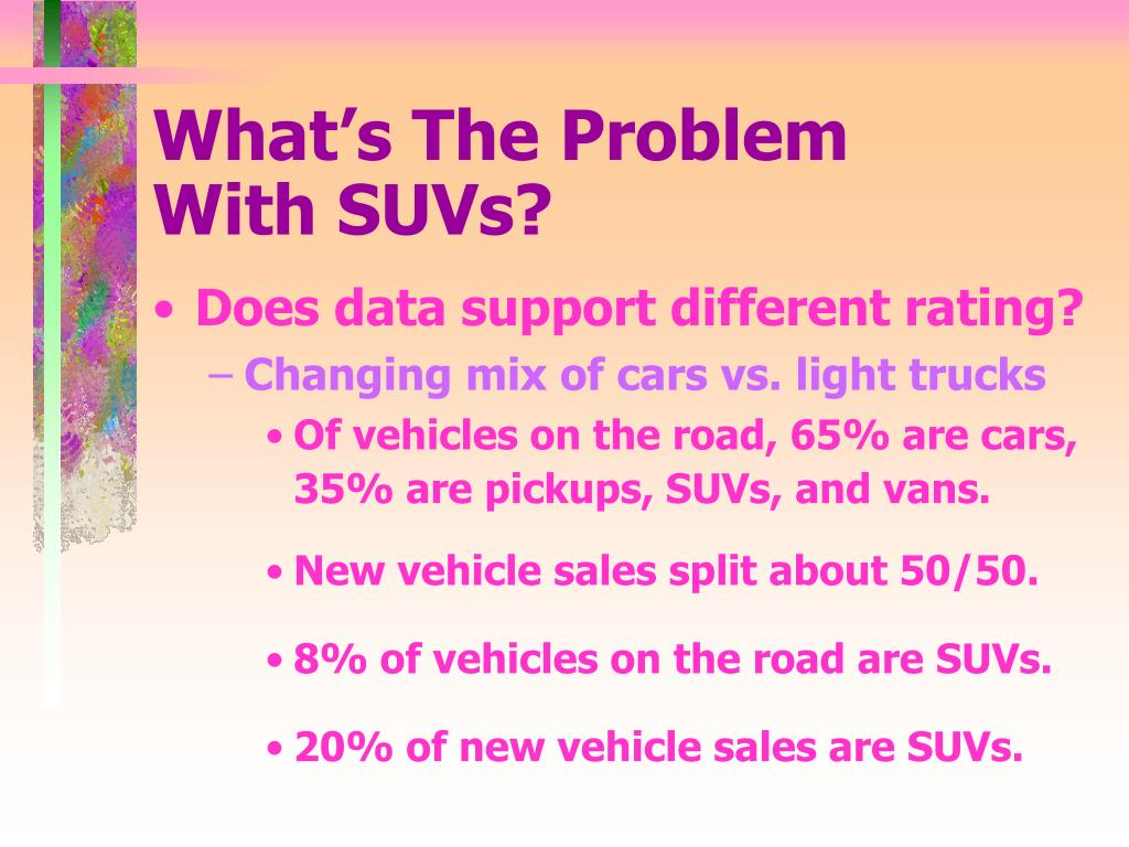 What's The Problem    With SUVs?