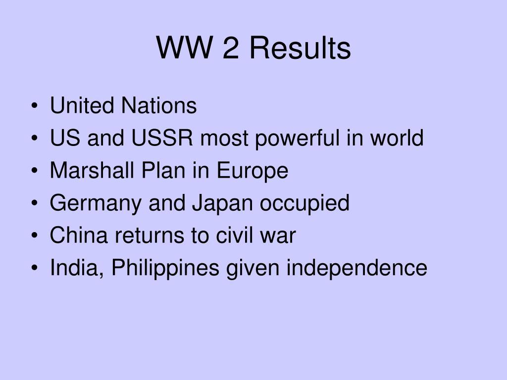 WW 2 Results