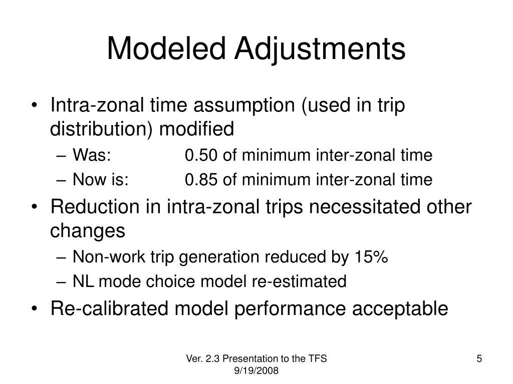 Modeled Adjustments