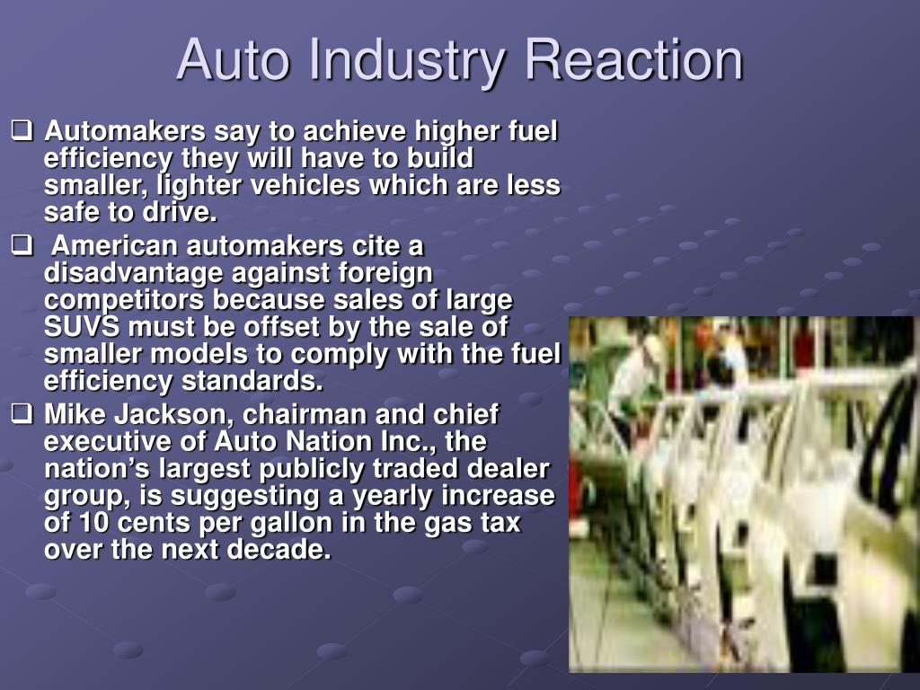Auto Industry Reaction