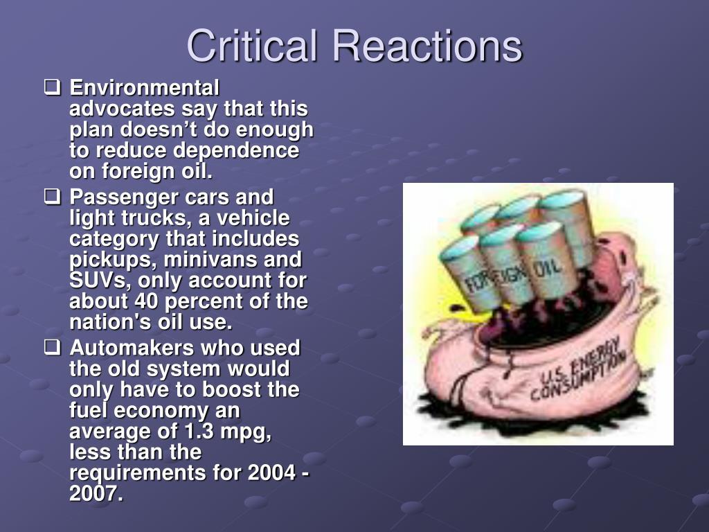 Critical Reactions
