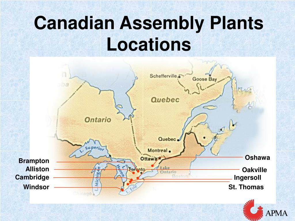 Canadian Assembly Plants Locations