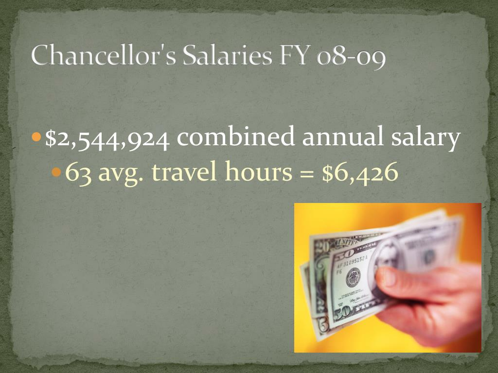 Chancellor's Salaries FY 08-09