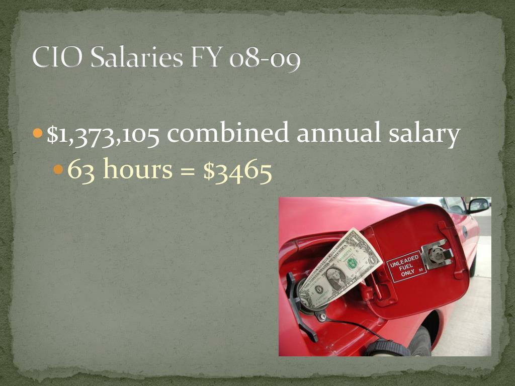 CIO Salaries FY 08-09