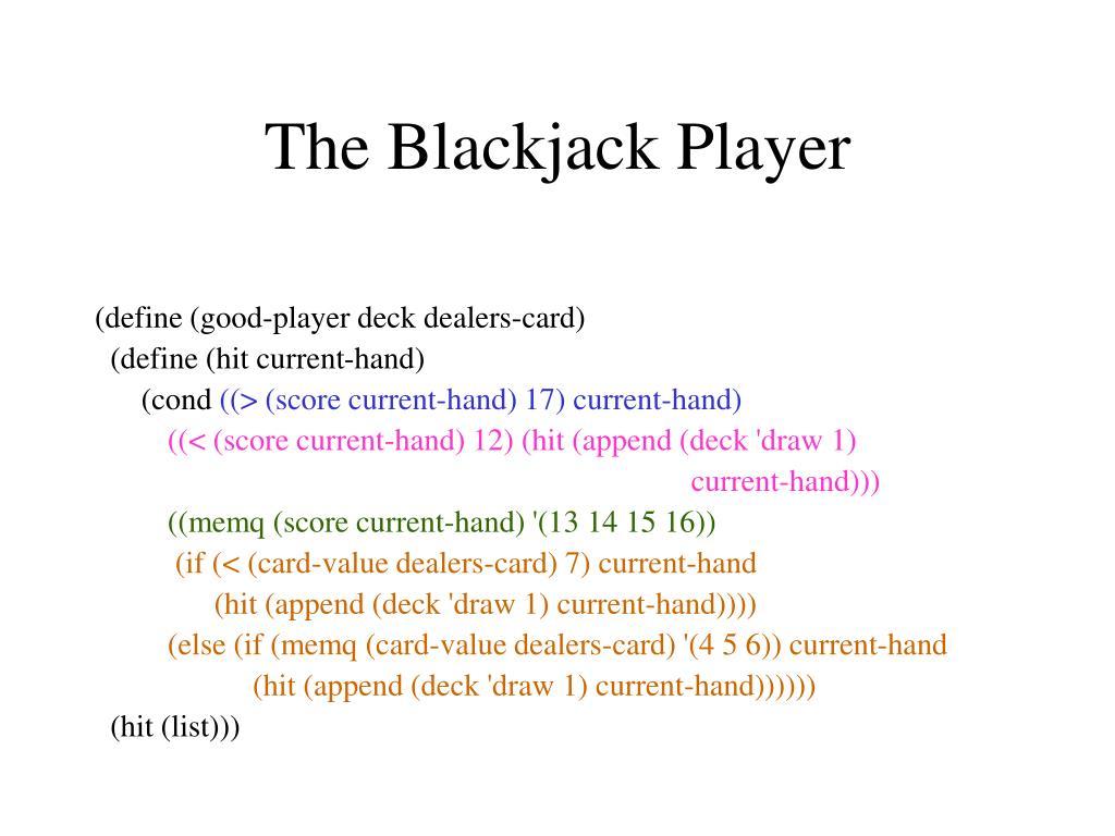 The Blackjack Player