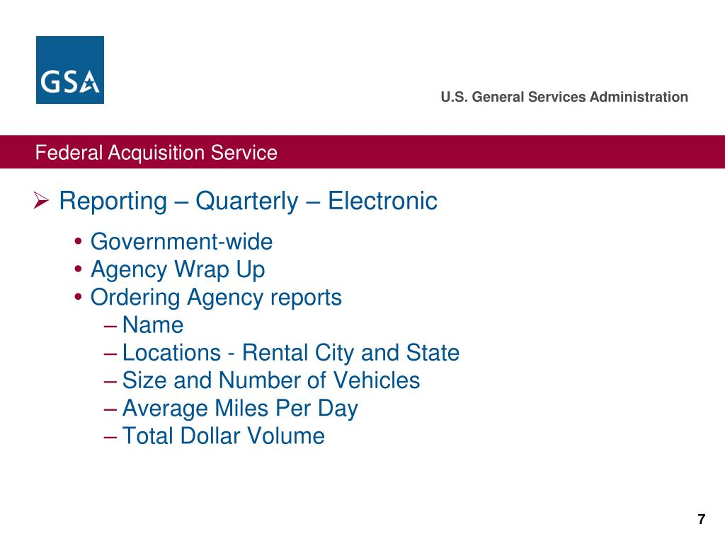 Reporting – Quarterly – Electronic