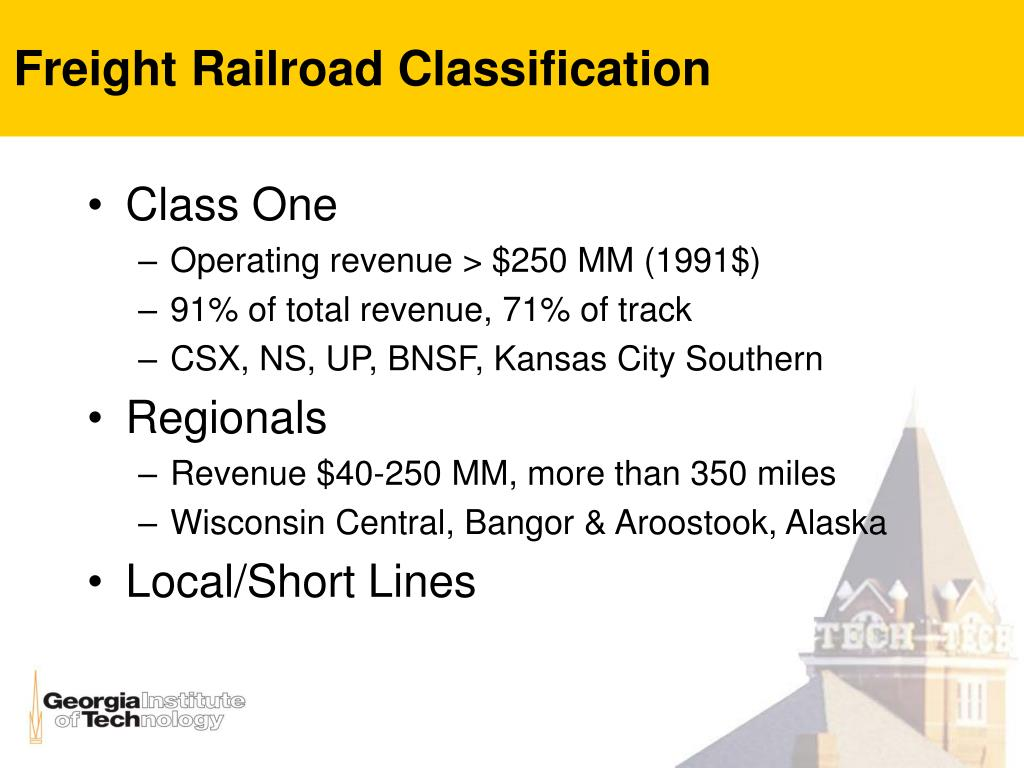 Freight Railroad Classification
