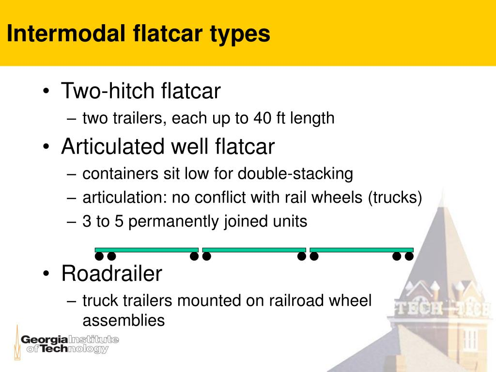 Intermodal flatcar types