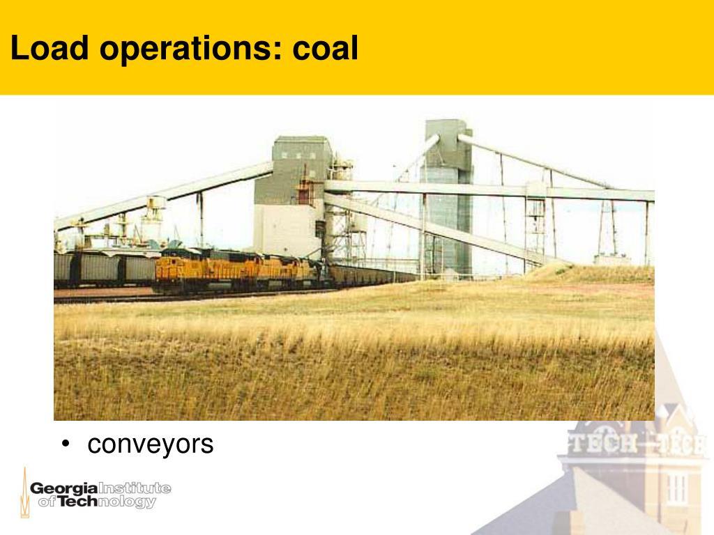 Load operations: coal