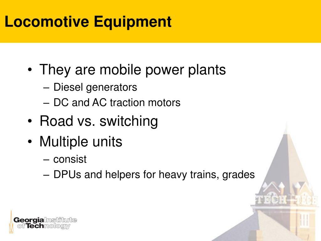 Locomotive Equipment