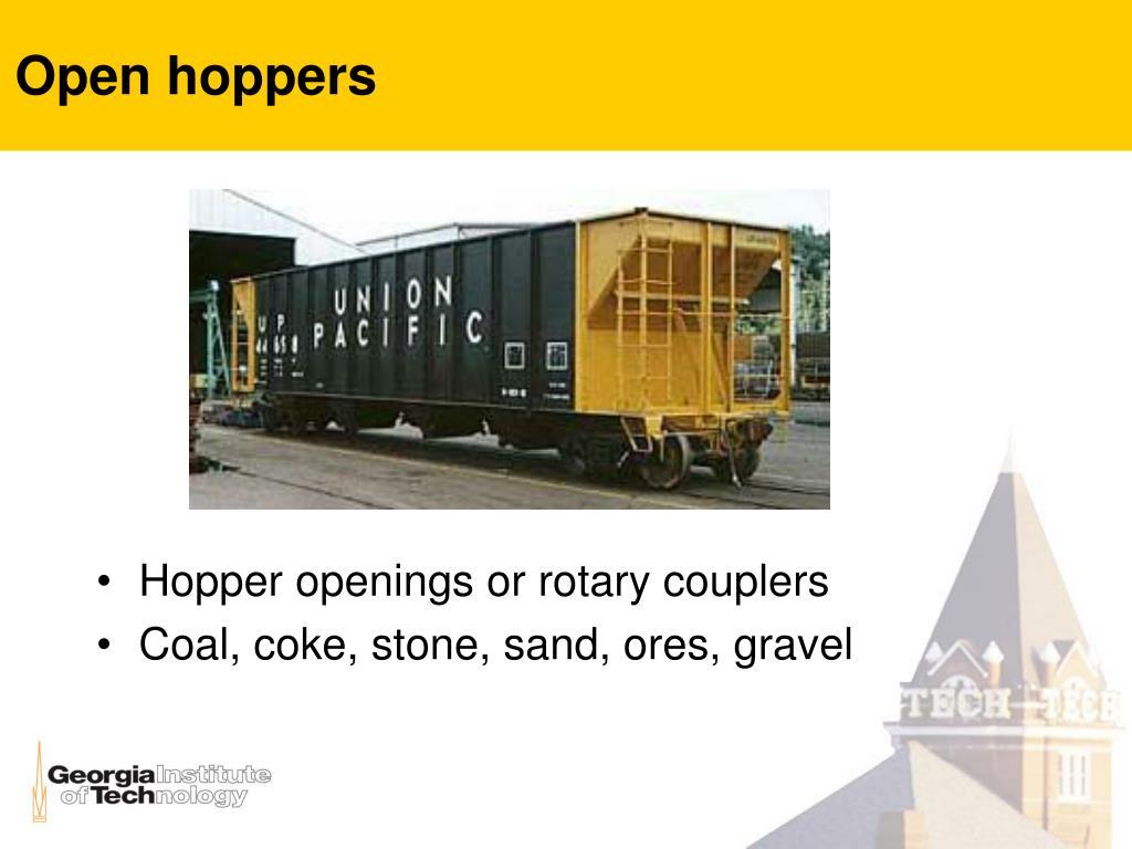 Open hoppers