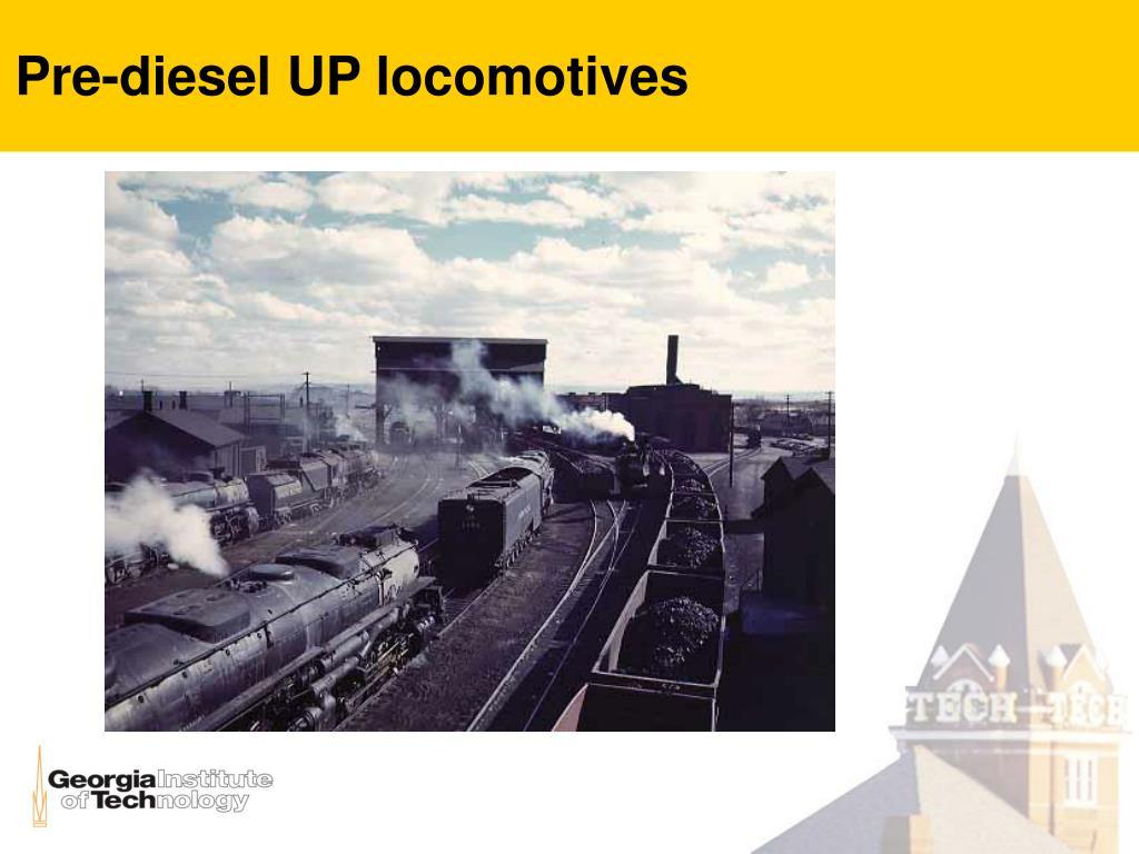 Pre-diesel UP locomotives