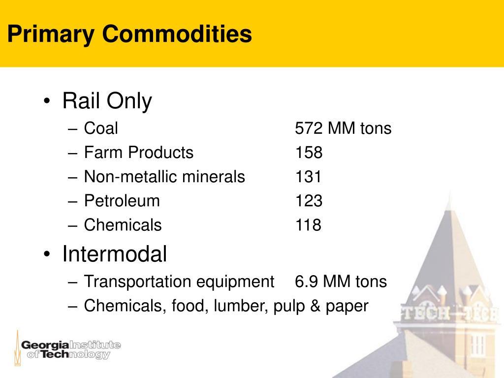 Primary Commodities