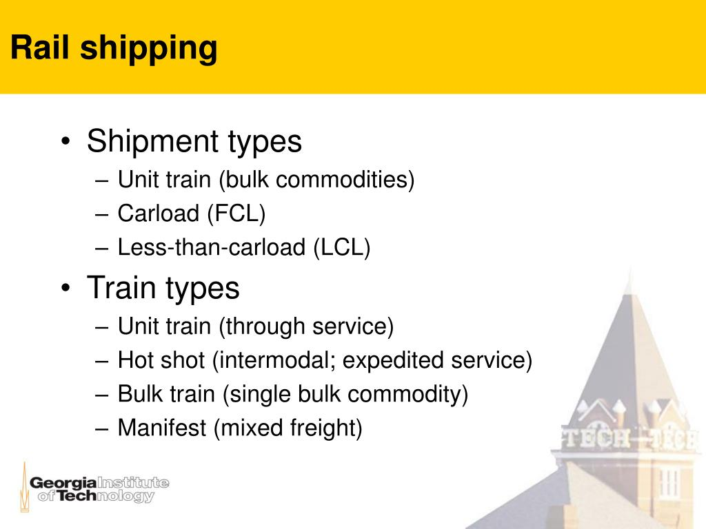 Rail shipping