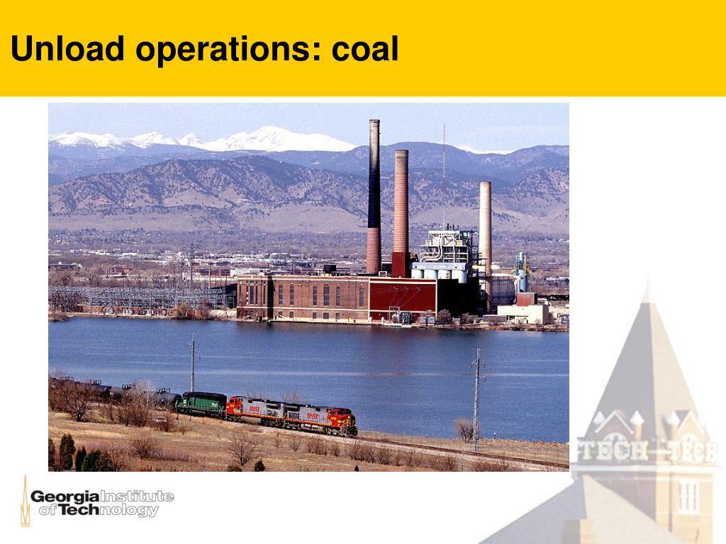 Unload operations: coal