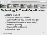 technology in transit coordination13