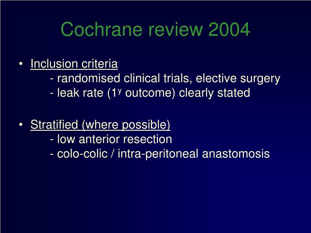 Cochrane review 2004