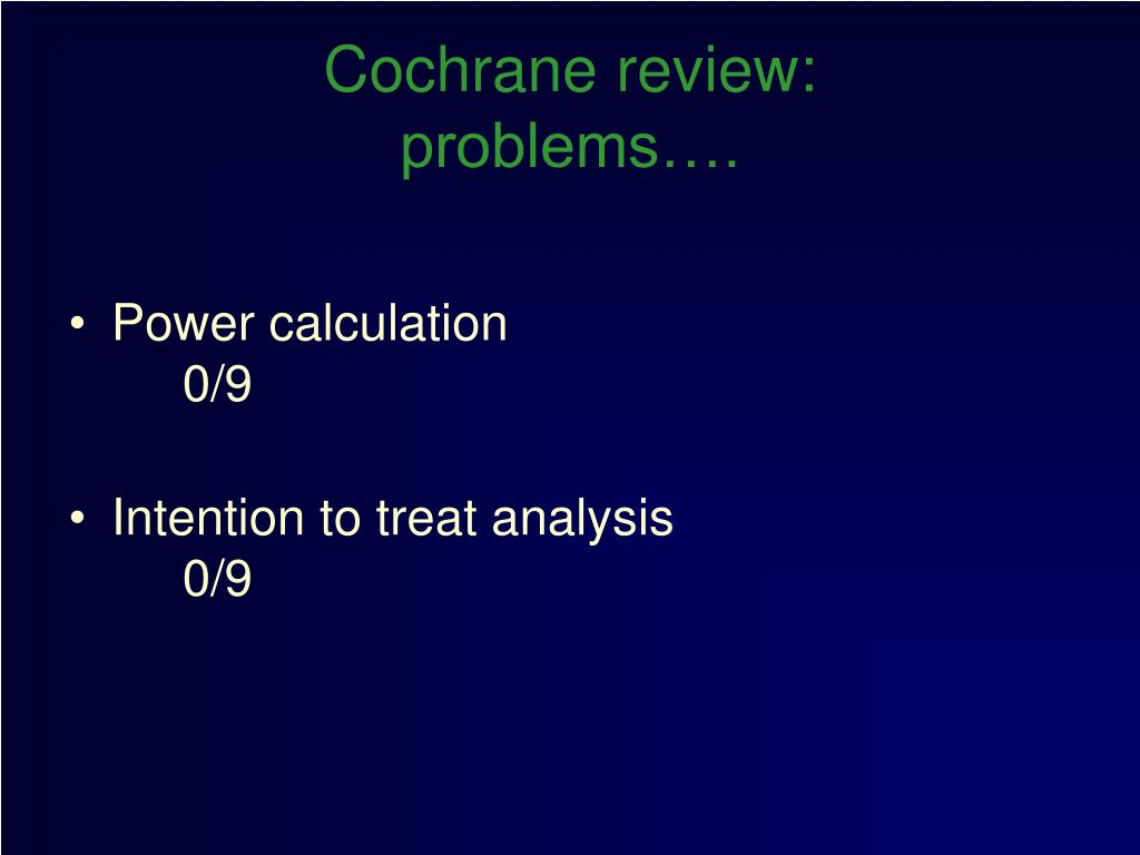 Cochrane review: