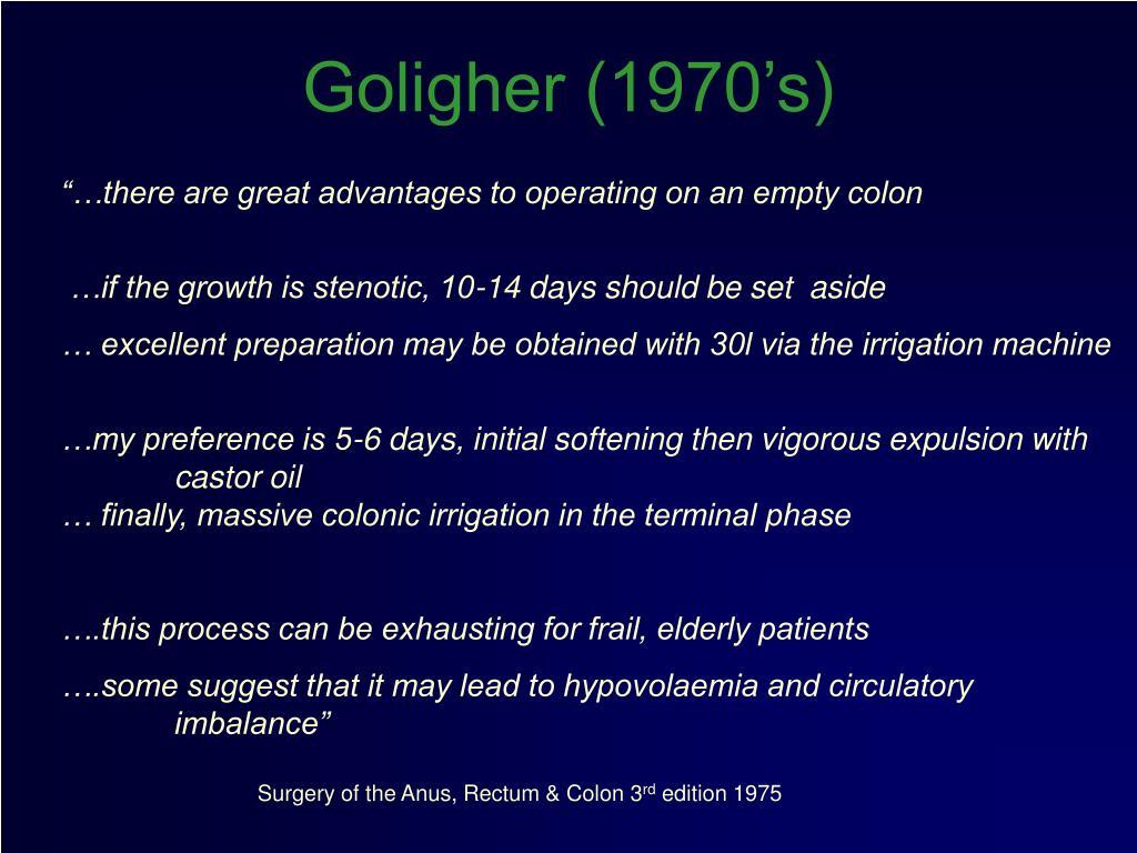 Goligher (1970's)
