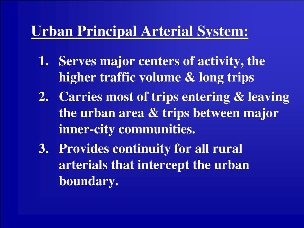 Urban Principal Arterial System: