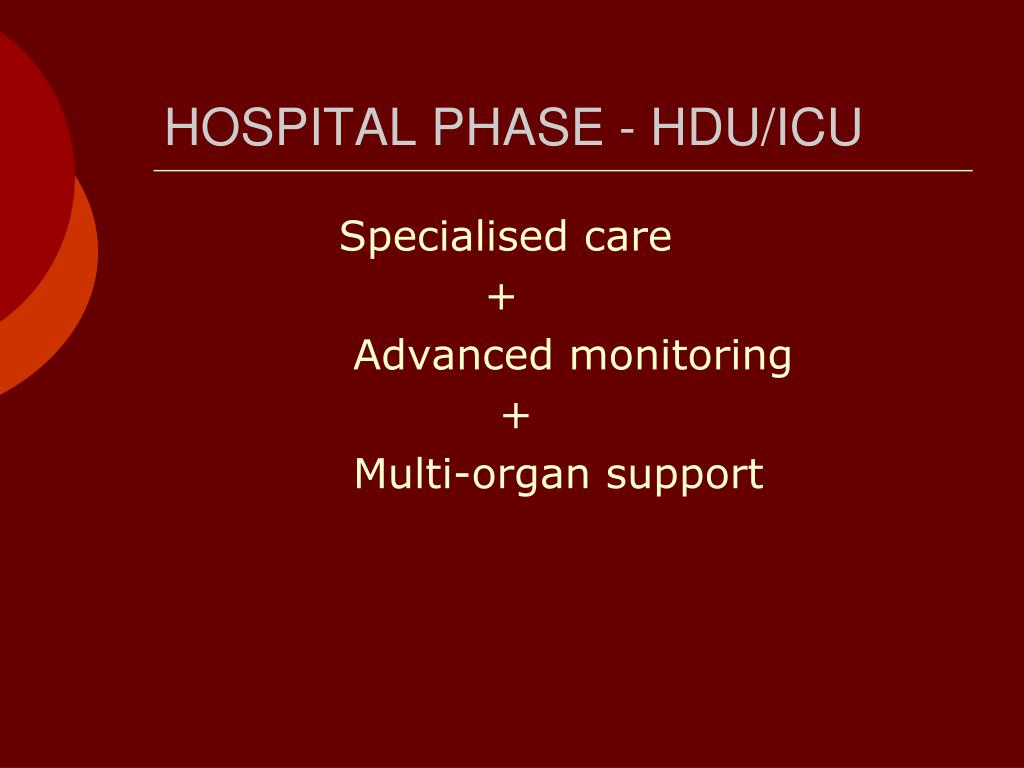 HOSPITAL PHASE - HDU/ICU