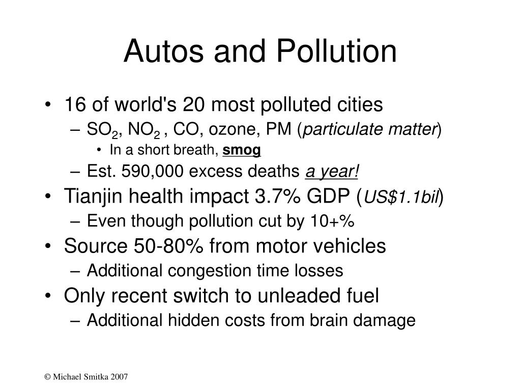 Autos and Pollution