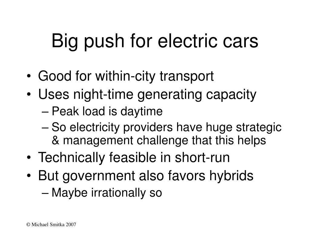 Big push for electric cars