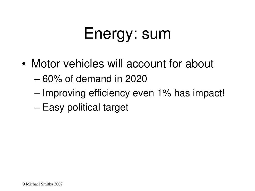 Energy: sum