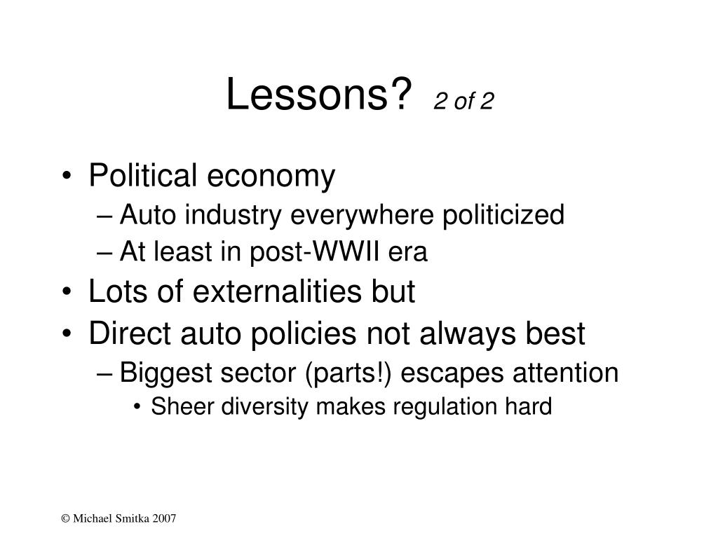 Lessons?