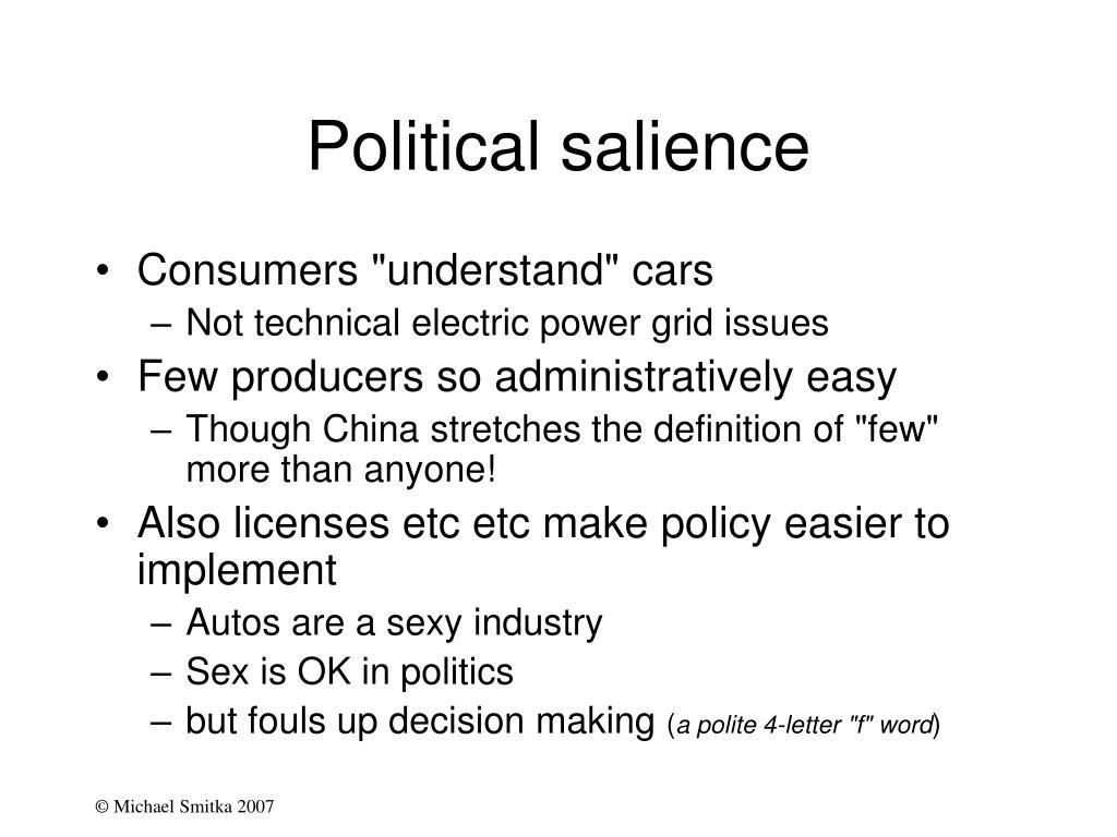 Political salience
