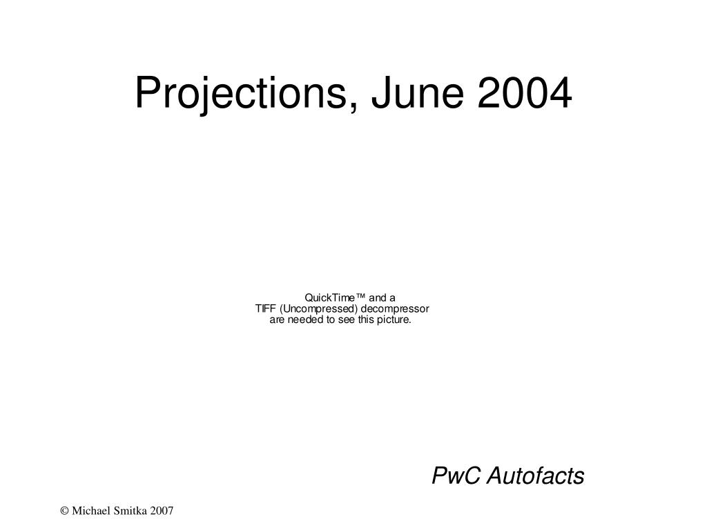 Projections, June 2004