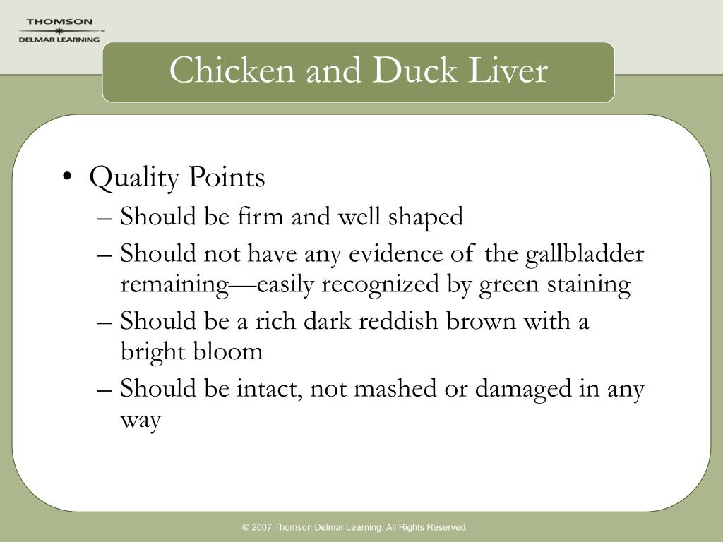 Chicken and Duck Liver
