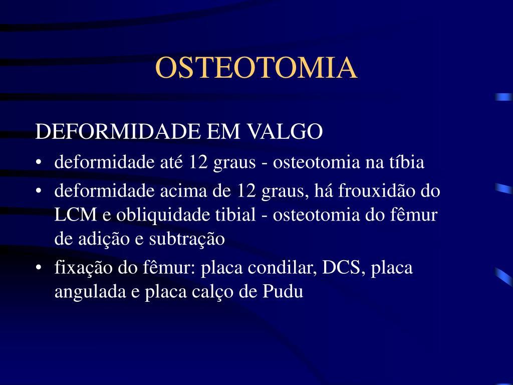 OSTEOTOMIA