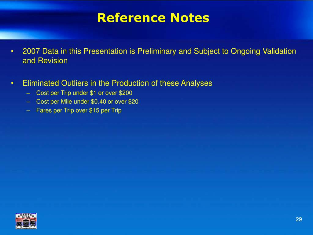 Reference Notes