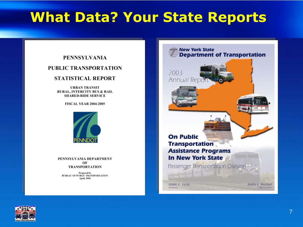 What Data? Your State Reports