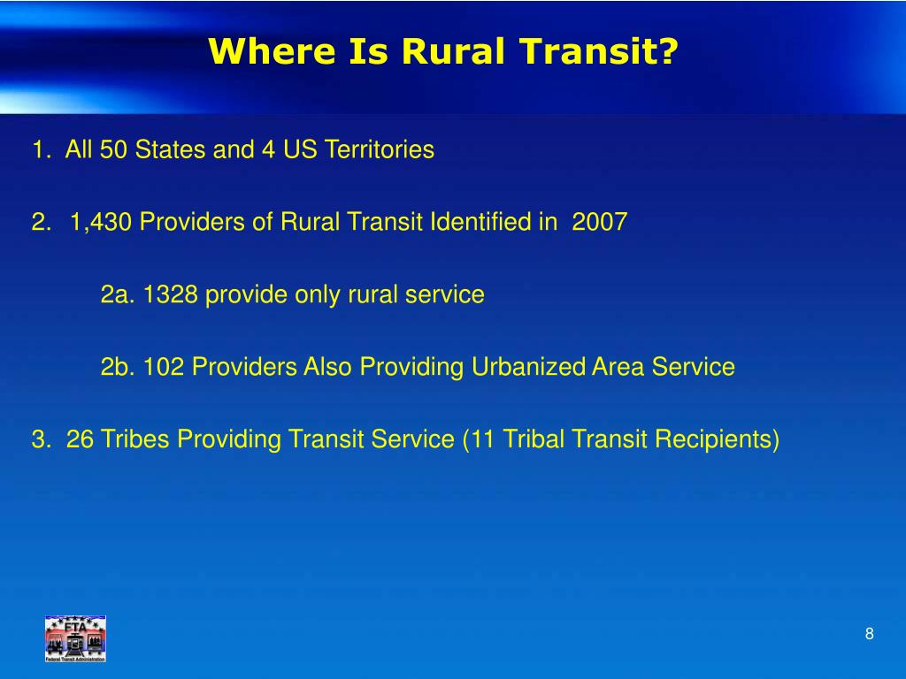 Where Is Rural Transit?