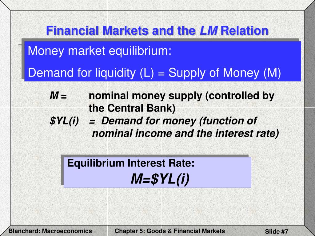 Financial Markets and the